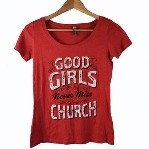 Eric Church Good Girls Never Miss Church T-Shirt